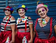 Carnaval Bloco Jardineira. Trio de Amigas de Palhaço. Taquaritinga 27Fev17 (1 de 1)