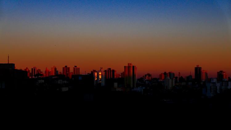 winter evening twilight