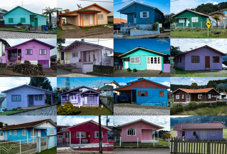 The colorful little wooden houses of Santa Catarina Julho2018