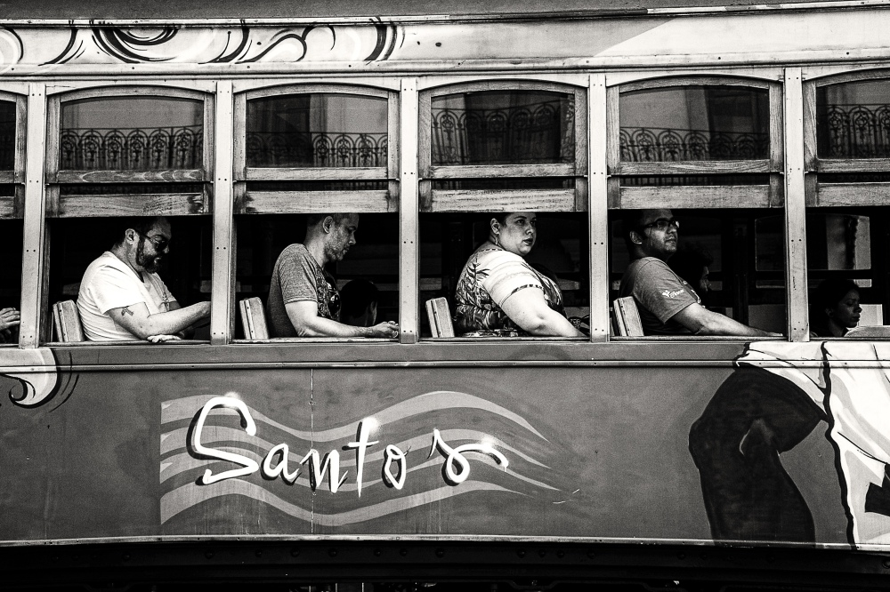 Street car in Santos, SP-Brasil. Oct2016